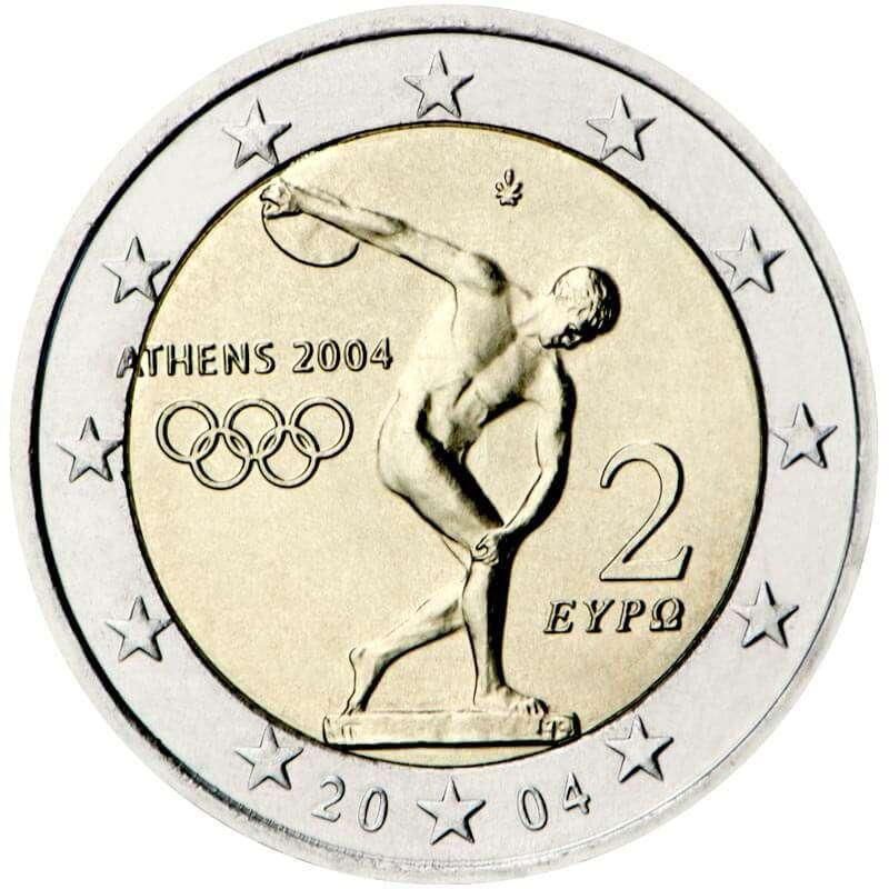 2 Euro Olympia 2004 Wert