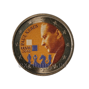100 Years since the Birth of Paul Keres. Colored coin