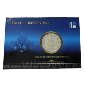 Estonia`s road to independence (coincard)