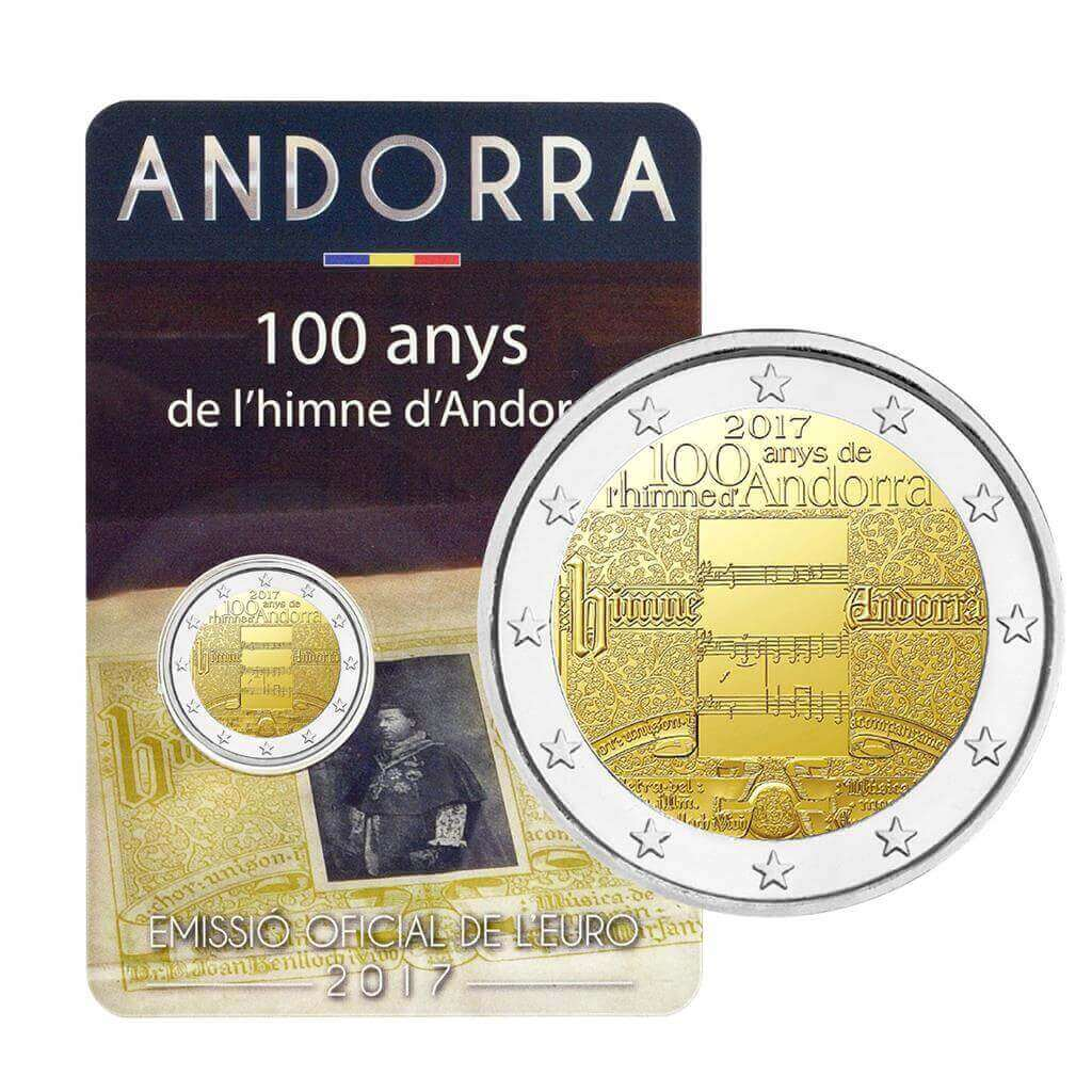BU Quality IN STOCK ANDORRA 2 Euro 2017-100 years of the anthem
