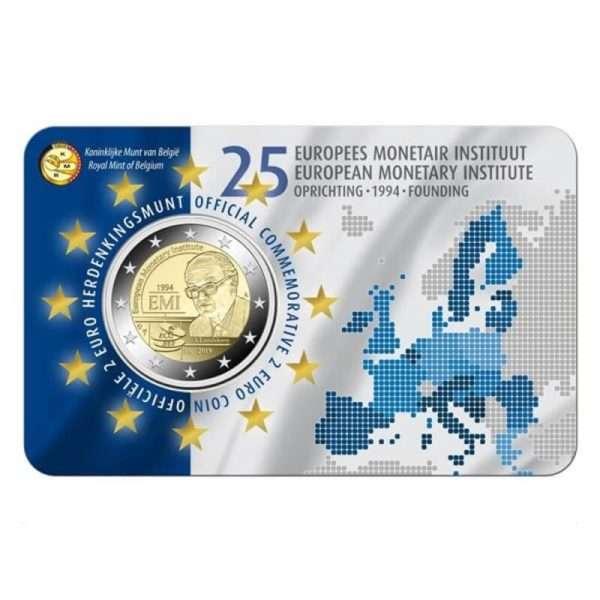 2-Euro-Belgien-2019-25-Jahre-Europaeisches-Waehrungsinstitut-Coincard-niederl-Version