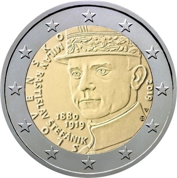 slowakije-2019-2-euro-100-sterfdag-milan-ratislav-stefanik-unc