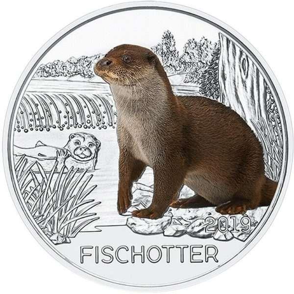 Oesterreich_3_Euro_2019_Fischotter_1